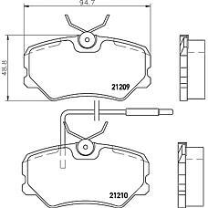 MINTEX mdb1376 (425095 / 425055 / 425087) кол. торм. диск. компл. peugeot