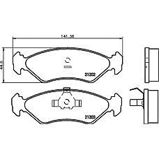 MINTEX MDB1404 (5025929 / 6188427 / 6203650) колодки торм.пер. Mazda (Мазда) 121, Ford (Форд) fiesta, ka