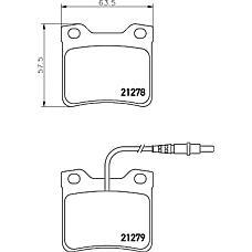 MINTEX mdb1442 (425081 / 425193 / E172223) кол. торм. диск. компл.задн.pe 605 90- t*