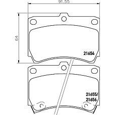 MINTEX MDB1530 (B5Y63328Z / B5Y83323ZA / B5Y63323Z) колодки торм.пер. Mazda (Мазда) 323