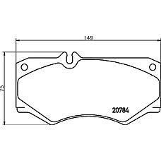 MINTEX MDB1585 (6014208720 / 0014201420 / 6014207620) колодки торм.пер. mb w460, w461 g-class, t1
