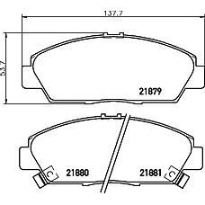 MINTEX mdb1635 (45022SS0G10 / 45022S30G10 / 45022SE0G10) колодки торм.диск.пер.Honda (Хонда) acc 93- e