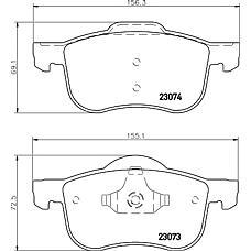 MINTEX MDB1944 (8634921 / 272401 / 30648385) колодки торм пер Volvo (Вольво) s80 / s60 / xc70 97-