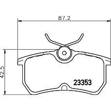 MINTEX mdb1959 (1075565 / 1107698 / 1425407) колодки торм.диск задн.fo focus
