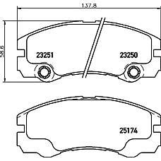 MINTEX mdb1985 (1605084 / 1605002 / 97201441) кол. торм. диск. компл. Opel (Опель) / izuzu