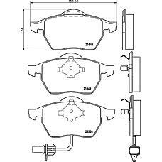 MINTEX mdb2102 (1133445 / 7M3698151 / 1237132) колодки торм.диск. VW Sharan (Шаран) 00-e