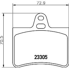 MINTEX MDB2190 (425217 / 425290 / 425334) колодки тормозные дисковые задние Citroen (Ситроен) c5 01>