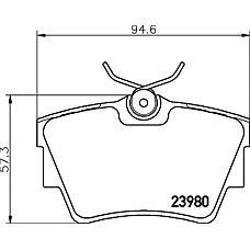 MINTEX mdb2258 (7701050918 / 7701054772 / 4414520) колодки торм. диск. op vivaro t 01