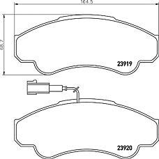 MINTEX mdb2329 (425244 / 425245 / 9949517) колодки торм. диск. cit Jumper (Джампер) e 02