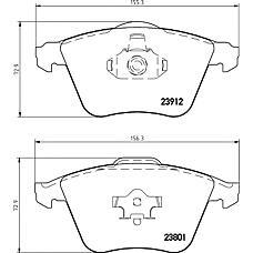MINTEX mdb2749 (B3YF3323Z / 1368558 / 30742029) колодки торм.дисковые