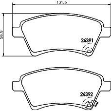 MINTEX mdb2797 (71742853 / 5581079J00 / 71750033) колодки тормозные дисковые комплект