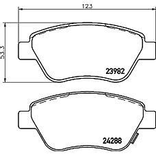 MINTEX MDB2854 (1605359 / 1605353 / 93189815) колодки торм.пер. Opel (Опель) corsa