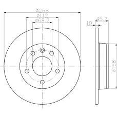 MINTEX mdc1018 (7M0615601A / 1001094 / 1023605) диски торм.