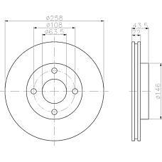 MINTEX mdc1030 (3555344 / 1323620 / 3573537) диски торм.