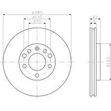 MINTEX mdc1050 (569060 / 9117678 / 90539466) диски торм.