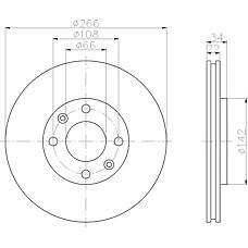 MINTEX mdc1491 (4246W7 / 4246W1 / 424983) диски торм.