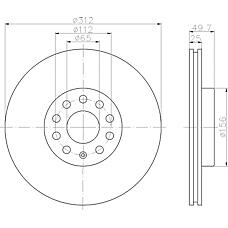 MINTEX mdc1706 (1K0615301AA / 5C0615301B / 561615301) диск тормозной
