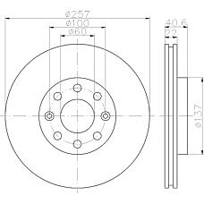 MINTEX mdc1735 (55700920 / 55700921 / 93188917) диск тормозной
