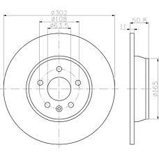 MINTEX mdc1810 (1405500 / 1379931 / 1385590) диск торм.