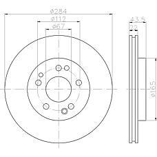 MINTEX MDC373 (1244211612 / 1244212712 / 1294210312) Диск тормозной передний вент. MB W124