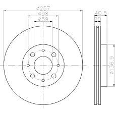 MINTEX mdc615 (46423415 / 7645056 / 7779409) диски торм.