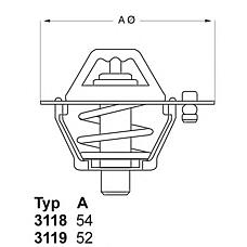 WAHLER 3119.82D5 (6994257 / 9091603055 / 109283) термостат\ Toyota (Тойота) Corolla (Корола) / Carina (Карина) <87