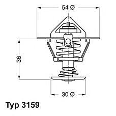 WAHLER 3159.82d (7615234 / 7615235 / 133748) термостат Fiat (Фиат) peugeot
