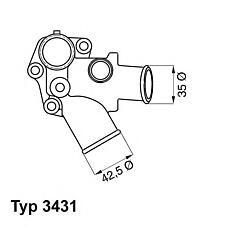 WAHLER 3431.80d (7625346 / 5999818 / 7625347) термостат Fiat (Фиат) lancia