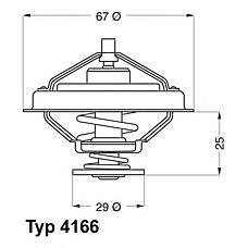 WAHLER 4166.79D (98432310 / 98467516 / 4804321) термостат iveco eurocargo / m / zeta 1986-1994 98467516