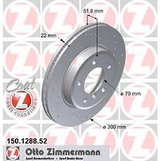ZIMMERMANN 150.1288.52 (34111164539 / 34116757526 / 34116766224) диск торм.пер. BMW (БМВ) 3 (e46) 00>  не менее 2 единиц
