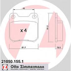 ZIMMERMANN 21050.155.1 (1605879 / 1605924 / 1605799) колодки торм.зад. Opel (Опель) Omega (Омега) a / b, vectra b, saab
