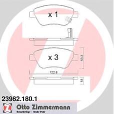 ZIMMERMANN 23982.180.1 (1605353 / 1605359 / 93189815) колодки торм.пер. Opel (Опель) Corsa (Корса) d (07.06-)