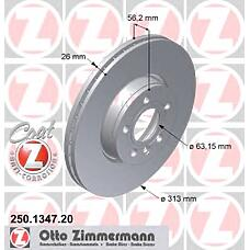 ZIMMERMANN 250134720 (7M3615301 / 1108038) диск торм Ford (Форд) galax Seat (Сеат) VW shar / transp 90 / 05->>