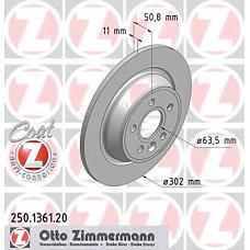 ZIMMERMANN 250.1361.20 (1405500 / 1379931 / 1385590) Диск тормозной задний FORD Coat Z
