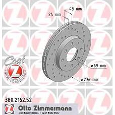 ZIMMERMANN 380.2162.52 (MR389725 / MR475331 / MB895098) диск торм.пер. Mitsubishi (Мицубиси) galant 01>  не менее 2 единиц