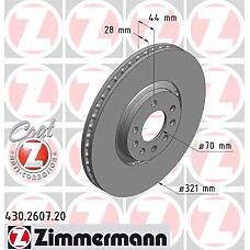 ZIMMERMANN 430.2607.00 (569017 / 93185817) диск торм.пер. Opel (Опель) Astra (Астра) h 05>  не менее 2 единиц