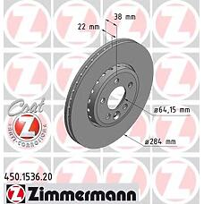 ZIMMERMANN 450.1536.00 (GBD90844) диск торм.пер. rover 75  не менее 2 единиц