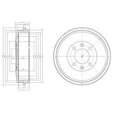 DELPHI BF169 (424724 / 91509908) барабан тормозной
