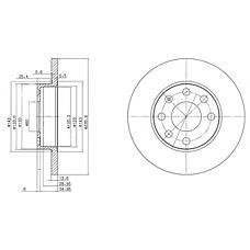 DELPHI BG2148 (569020 / 90008005 / 569030) диск тормозной передний\ Opel (Опель) ascona / Astra (Астра) / kadett / vectra 1.3-1.7d 84>