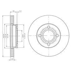 DELPHI BG2272 (443615301B / 443615301A / 431615301A) диск тормозной передний\ Audi (Ауди) 80 / 90 / 100 1.8-2.0d <91