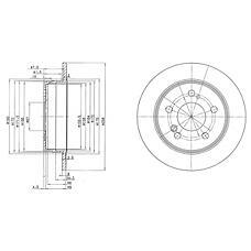 DELPHI BG2291 (2014231212 / 2014230912 / 2014231112) диск тормозной задний\ mb w124 / w201 2.0-3.0td 85>