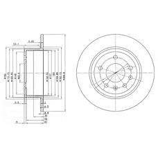 DELPHI BG2381 (569101 / 90272328 / 90223919) диск тормозной задний\ Opel (Опель) Omega (Омега) 1.8-3.0 87>