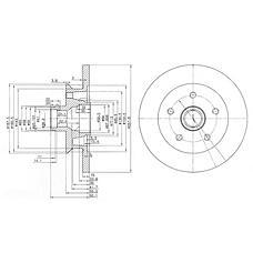 DELPHI BG2468 (251407617D / 251407617K / 251407617M) диск тормозной передний\ VW t2 1.9-1.7d 85-90