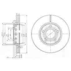 DELPHI BG2518 (447615301A / 447615301B) диск тормозной