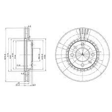 DELPHI BG2619 (4002143 / 8965980 / 8965890) диск тормозной