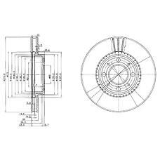DELPHI BG2720 (2715902 / 271590 / 3516880) тормозной диск 2шт в упаковке