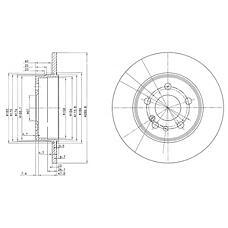 DELPHI BG2738 (1404230612 / A1404230612 / 230414) диск тормозной задний\ mb w140 2.8 / 3.2 / 3.4td 91-99