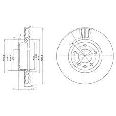 DELPHI BG2742 (569044 / 90392559 / 90344650) диск тормозной 2шт в упаковке