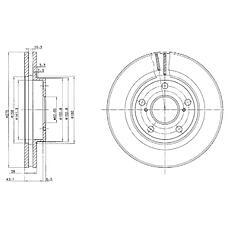 DELPHI BG2782 (4351233040 / 4351233060 / 4351233041) тормозной диск 2шт в упаковке