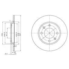 DELPHI BG2800 (4246G6 / 95661749 / 96012770) диск тормозной задний\ Peugeot (Пежо) 206 / 306, Citroen (Ситроен) saxo / zx 1.4-2.0 91>